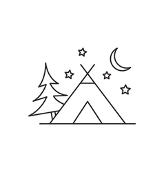 Camping tent icon vector