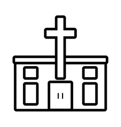 Pictogram catholic church building design vector
