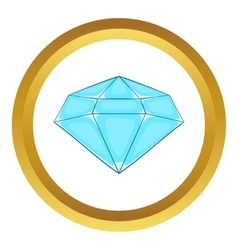 Polished diamond icon vector