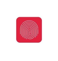 Fingerprint icon  round shaped finger print vector