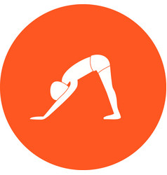 Downward facing dog pose vector