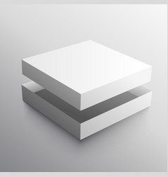 Empty box realistic design mock-up vector