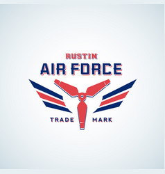 Air force retro label sign or logo vector