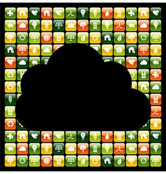 Global phone apps cloud vector
