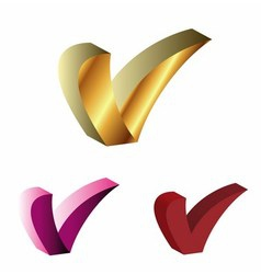 Letter v sign symbol icon 3d vector