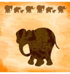 Grunge elephants vector