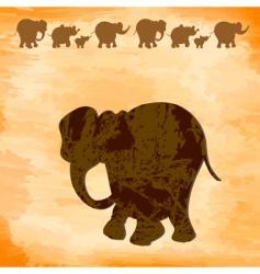 grunge elephants vector image