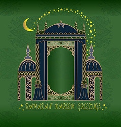 Ramadan karem greetings vector