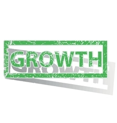 Green outlined growth stamp vector