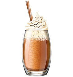 Smoothie with whipped cream vector