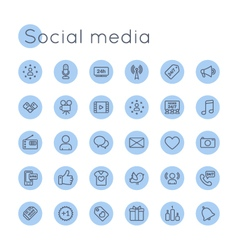 Round social media icons vector