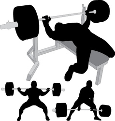 Powerlifting bench press squat deadlift vector
