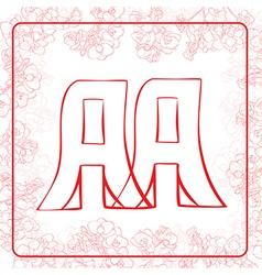 Aa monogram vector