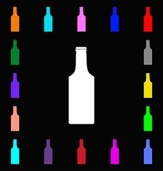 bottle icon sign Lots of colorful symbols for your vector image vector image