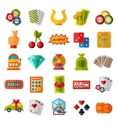 Casino icons set isolated vector