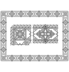 celtic patterns vector image vector image