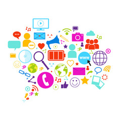 chat bubble social media communication concept vector image