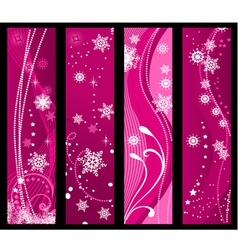 christmas and winter banners vector image vector image
