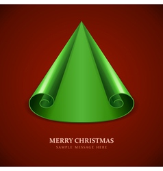 Christmas tree from scroll paper vector image vector image