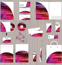 Corporate identity triangle pattern design vector