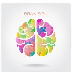 Creative jigsaw left and right brain vector