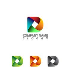 d letter design vector image vector image