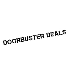 Doorbuster deals rubber stamp vector