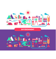 environment design flat concept vector image
