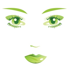 Face female isolated vector image