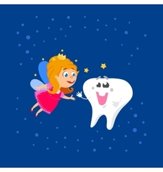 Fairy and big tooth vector