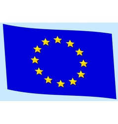 Flag of eu vector