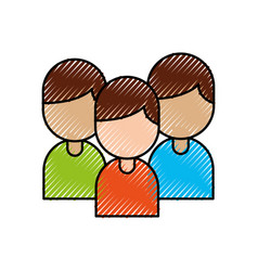 group people team work together colleagues vector image