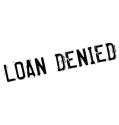 Loan denied rubber stamp vector
