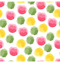 Seamless background with watercolor dots vector