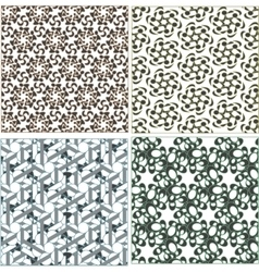 Seamless patterns in islamic style set vector image