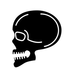 skull front view icon black vector image vector image