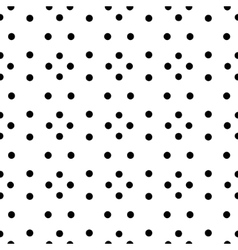 Unusual black and white small polka dot rhombus vector image vector image
