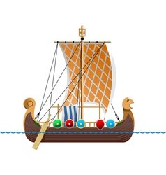 Viking ship vector
