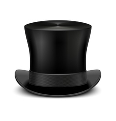 Vintage black gentleman top hat isolated on white vector