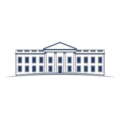 White house building icon vector