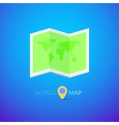 World map logo with pointer vector image vector image