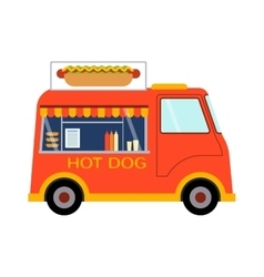 Food truck trailer vector