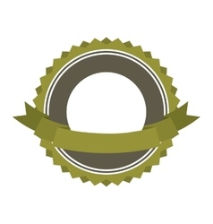 Frame ribbon green icon vector