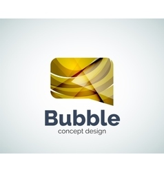 Bubble logo template vector