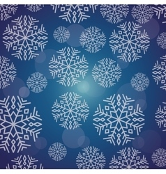 Snowflake winter and christmas design vector