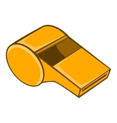 Whistle of refere icon cartoon style vector