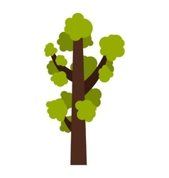 Tall tree icon flat style vector