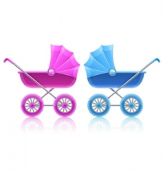 Carriages for baby transportation vector