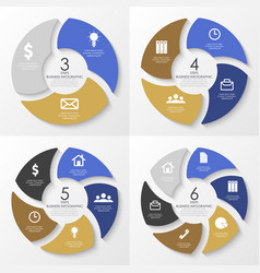 round infographics template for diagram vector image