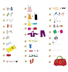 list of clothes for travel vector image